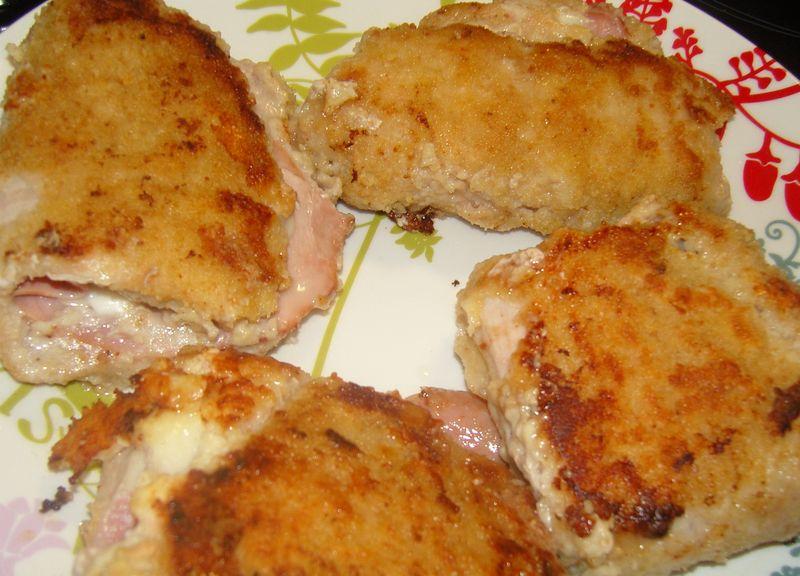 Cordon bleu jambon fumé mozarella 2
