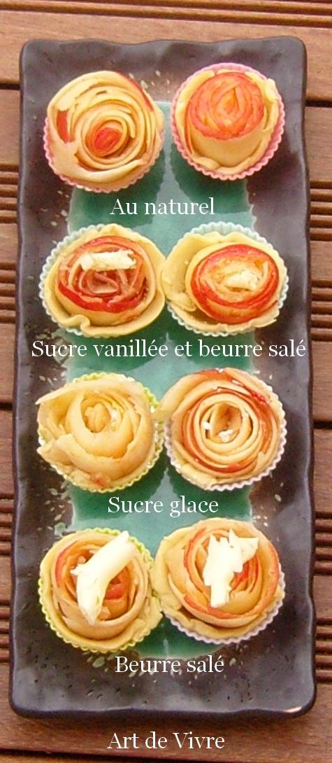 Mignardises tarte à la rose alain passard crues détaillées