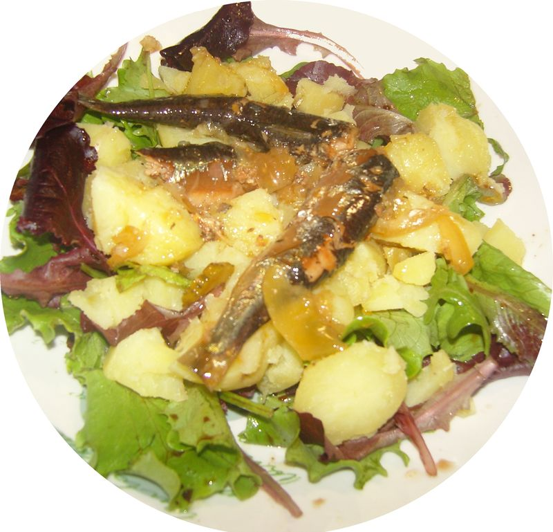 Salade aux sardines