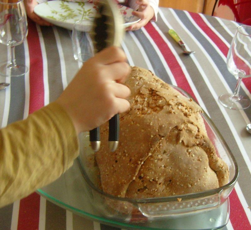 Poulet en croute de sel cassaget