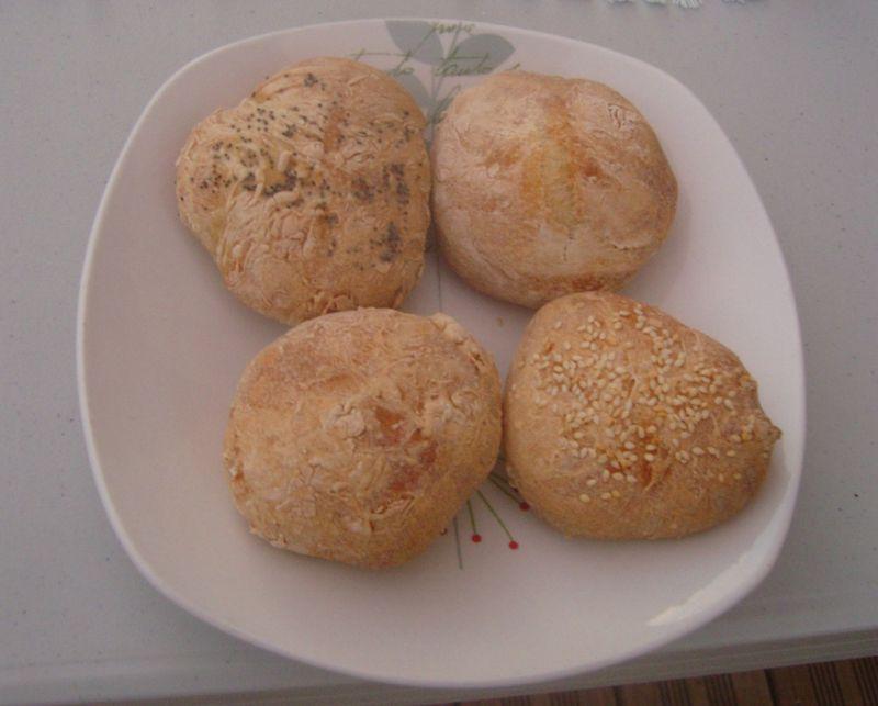 Petits pains spéciaux nature  au pavot au sésame