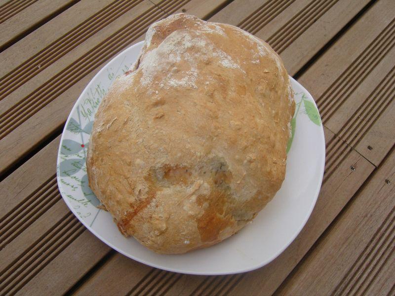 Poulet en croute de pain