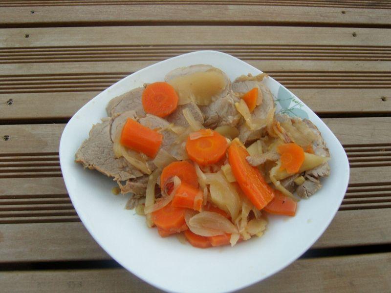 Filet mignon de veau caramélisé au miel et au gingembre