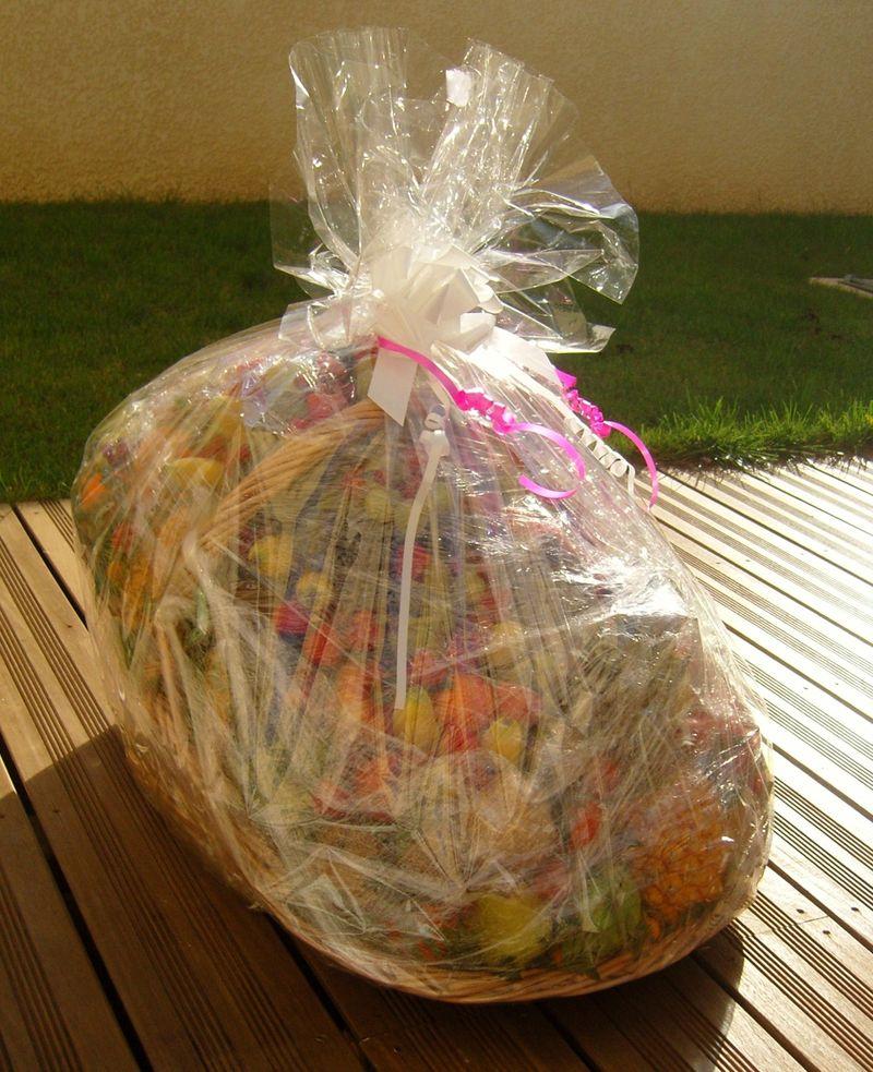 Panier de fruits concours Noilly Prat emballé