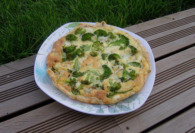 Tarte au brocoli et aux cinq fromages