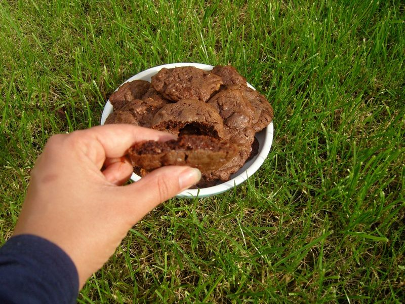 Cookies tout chocolat toblerone noir