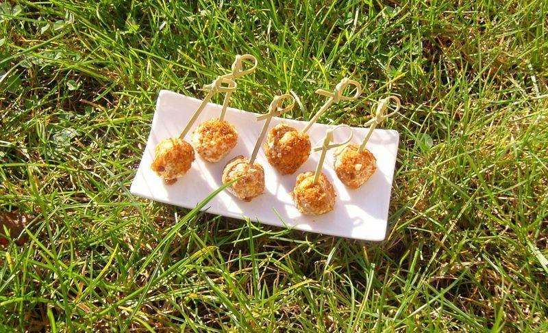 Boulettes Chèvre Abricot Pain d'épices