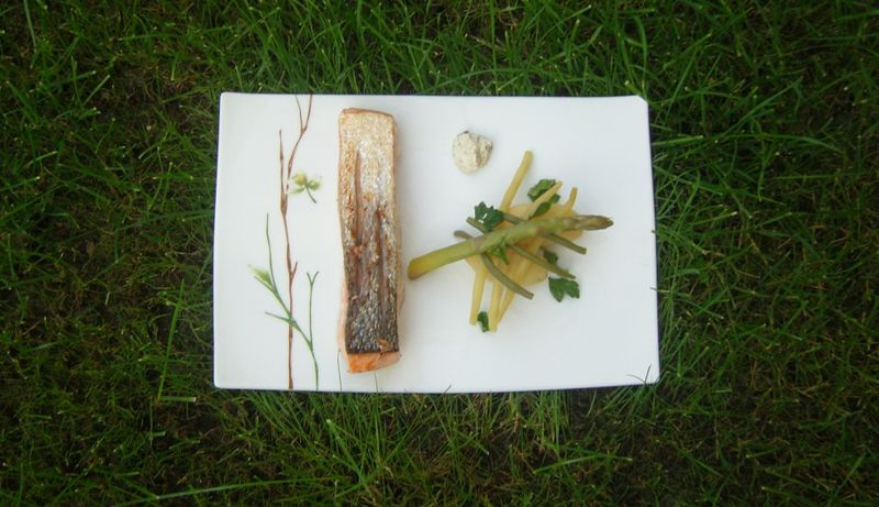 Saumon et ses légumes façon jamie olivier