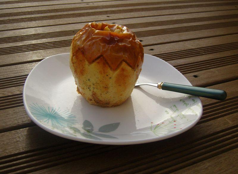 Pommes au four et son caramel laitier vanillé
