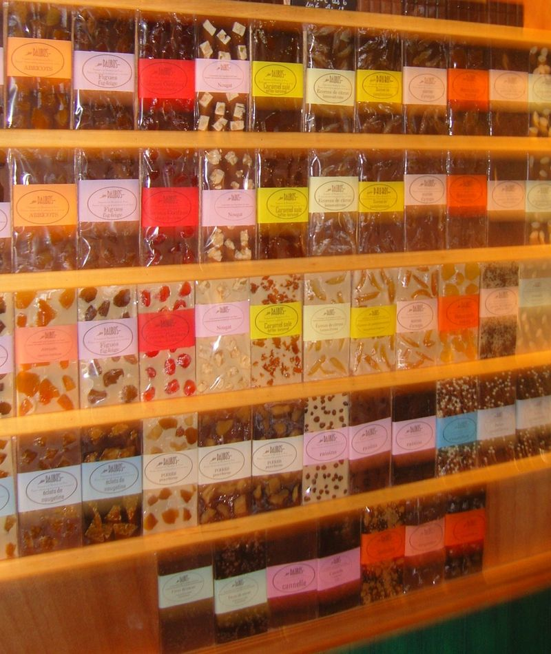 Tablettes de chocolats