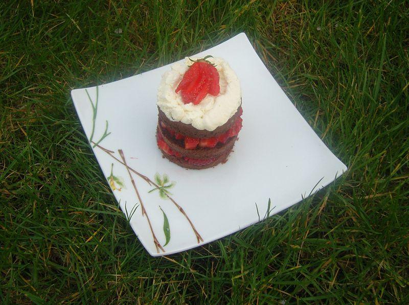 Layer cake Chocolat Fraise