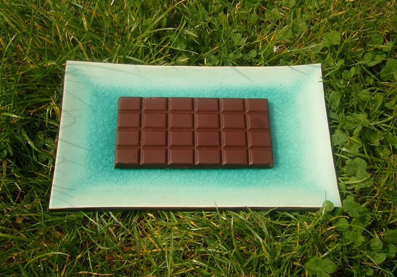 Tablette chocolat Noir Orange recto