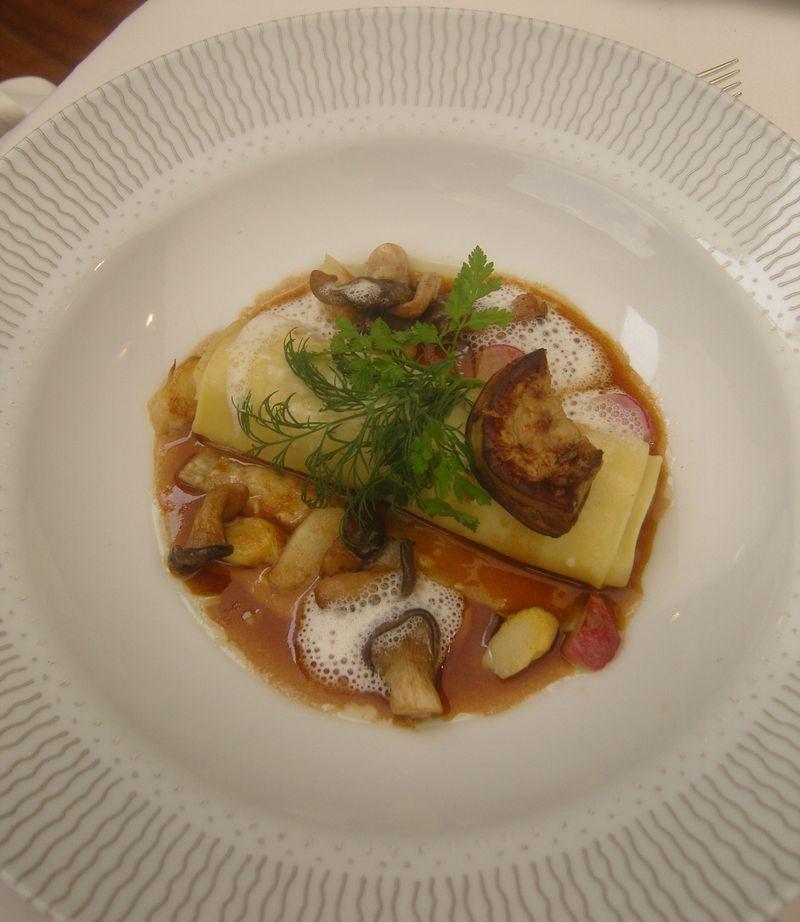 Charles Barrier Caneloni Foie gras Cèpes