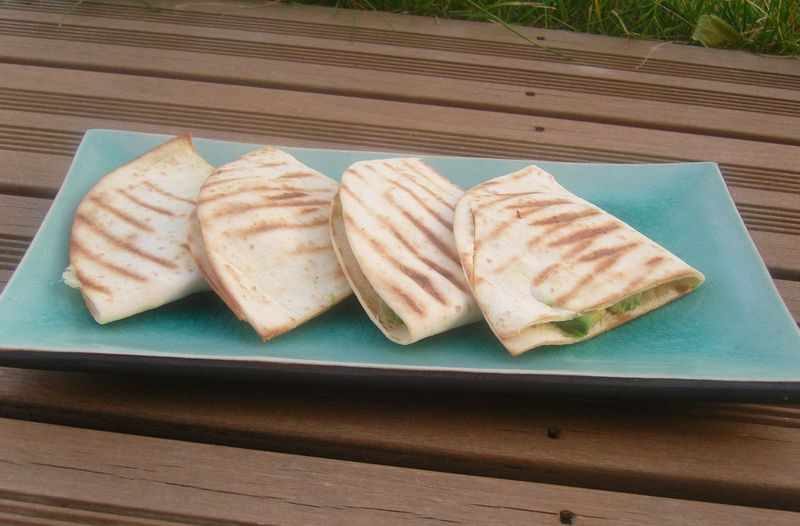 Quesadillas à l'avocat