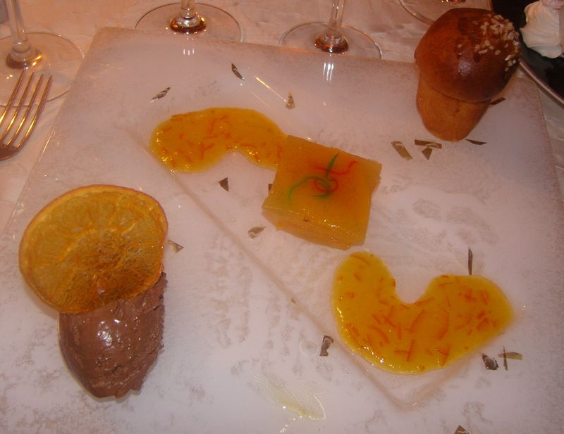 La Roche le Roy Pressée d'orange Mousse au chocolat Tainari Brioche