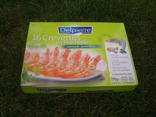 Brochettes de Crevettes Delpierre marinade persillée Boîte