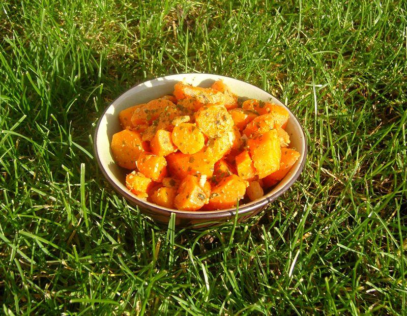 Salade de carottes au Cumin et a la coriandre